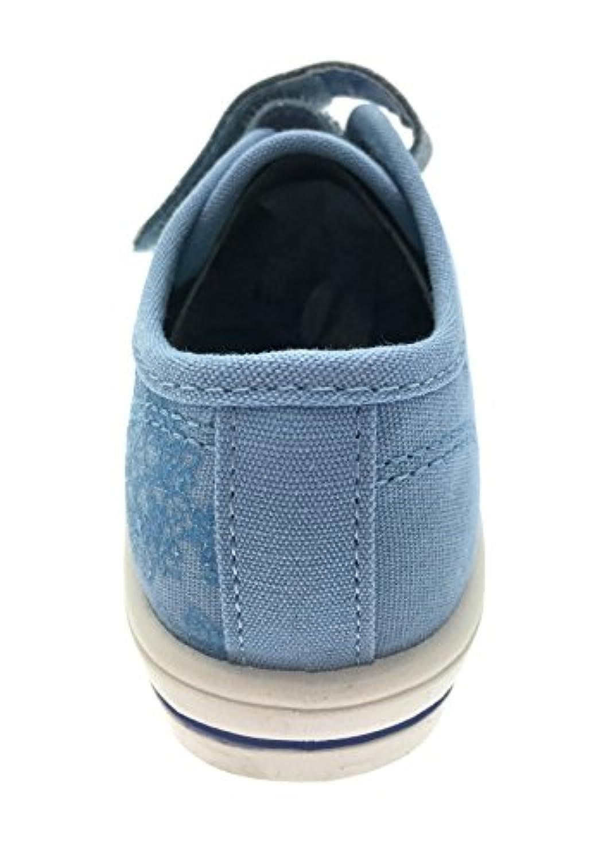 Kids Girls Frozen Anna Elsa Canvas Pumps Plimsolls Trainers Velcro Shoes Size UK 6-12