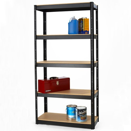 Office Dimensions Riveted Steel Shelving, 5 Shelf, 500 Series 16'' D x 36'' W x 72'' H, Galvanized Steel by Space Solutions