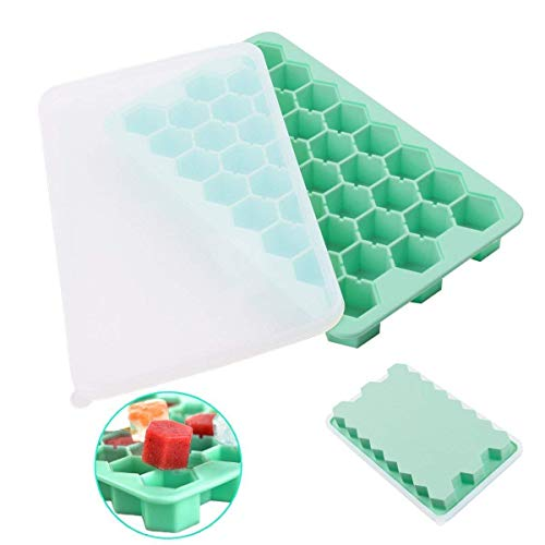 Ice Stackable - Ice Cube Tray With Lid - DigitalLife 38-Ice-Block Ice Mould For Water Cocktail Whiskey Fruit Milk Juice