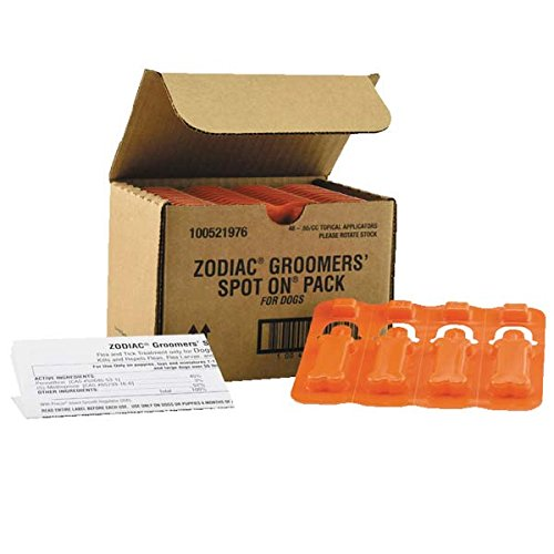 Zodiac ZO121 48 48 Piece Groomers Flea and Tick Topical Pack