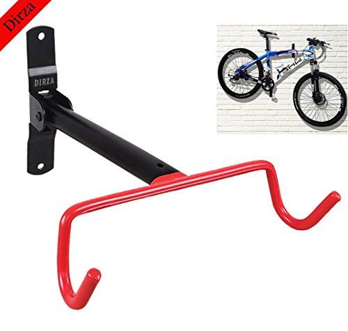 Dirza Wall Mount Bike Hanger Flip Up Garage Bicycle Bike Rack Storage System for Garage Shed with Screws 1 Pack