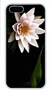 iPhone 5S Case - Customized Unique Design Lone Water Lily New Fashion PC White Hard by Maris's Diary