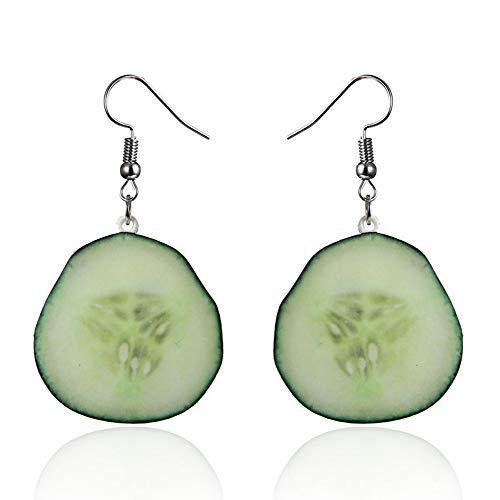 Gbell Clearance! Girls' Large Fruit Dangle Hook Earrings Charm - Acrylic Strawberry Pineapple Watermelon Kiwi Fruit Cucumber Oranges Drop Hook Earrings Women Personality Jewelry Statement (G)