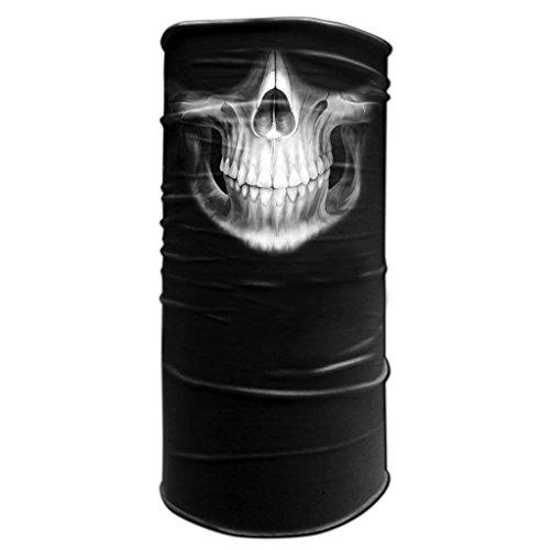 Tubular Neck Warmer 12 in 1 Sports Bandana Skull Jaw Teeth Biker Balaclava Head Wrap (Morf Suit)