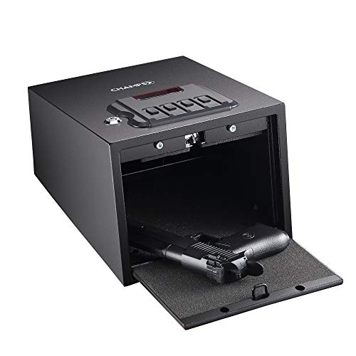 Champs Gun Safe Solid Steel Quick Access Electronic Pistol Safe with Auto-Open Lid, Wall Mount Bracket, Anti-Thief Alarm System by Champs (Image #7)