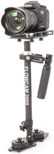 Flowcam 2000 Handheld Camera Stabilizer Steadycam for HDV DV DSLR Cameras Upto 6 lbs with Storage Bag (FCM-2000)