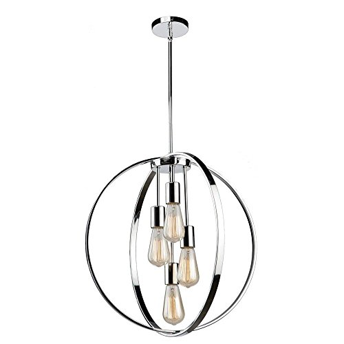 Newport Lighting (Artcraft Lighting AC10884CH Artcraft Newport 4-Light Chandelier 4, Chrome)
