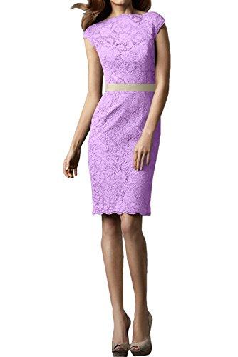 Hochwertig Damen Abendkleider Kurz Festkleid Rundkragen Ivydressing Lavendel Spitzenklaider Partykleid 5FdwAAq