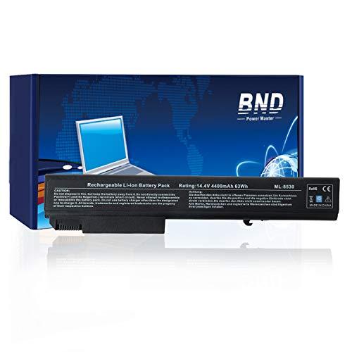 BND Laptop Battery for HP EliteBook 8530P 8540P 8530W 8540W 8730W 8740W / HP ProBook 6545B, fits P/N KU533AA 493976-001 - 12 Months Warranty [4400mAh/63Wh Li-ion]