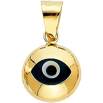 Amazon 14k yellow gold evil eye charm pendant jewelry 14k yellow gold evil eye charm pendant aloadofball Gallery