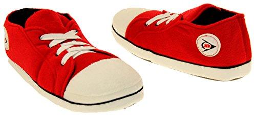Rouge Molleton Chaussure Sportif Nouveauté Dunlop D'entraînement Hommes Chaussures Chaud Pantoufle wFqWR540