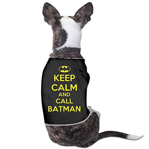 Toyou Keep Calm And Call Batman Geek T-Shirt For Dogs M Black