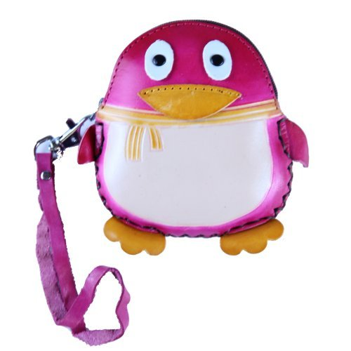 - Pink Penguin Leather Purse #1129