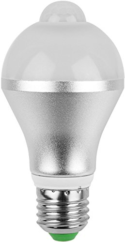 - GPCT 9W Infrared Motion Activated/Detector/Sensor E26 LED Warm/Cool Bulb. Auto ON/OFF, Outdoor/Indoor Dusk to Dawn Light Bulb- Front Door Garage/Basement/Hallway/Stairs/Patio/Backyard/Porch/Yard