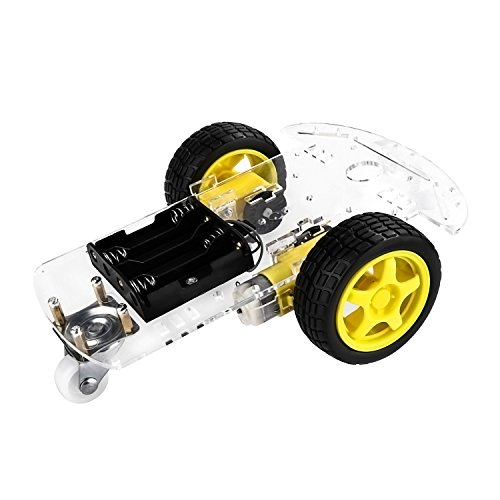 EMO Smart Robot Car Chassis Kit with Motors, Speed Encoder and Battery Box for DIY