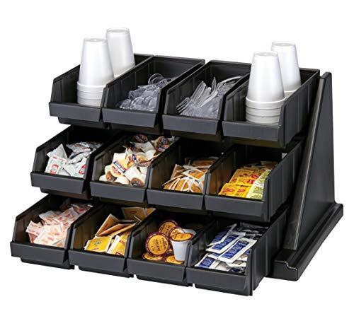 Cambro 12rs12110 Black Versa Self Serve Condiment Bin Stand Set With 3 Tier Stand And 12 Condiment Bins Case Of 1 Industrial Scientific Amazon Com