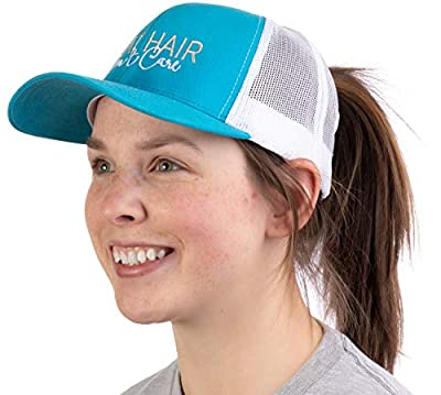 Boat Hair, Don't Care | Ponytail Trucker Hat, Boating Lake Cute Pony Tail Cap