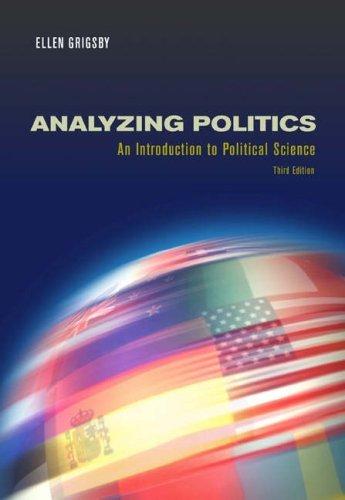 Analyzing Politics (with InfoTrac) by Grigsby Ellen (2004-06-29) Paperback