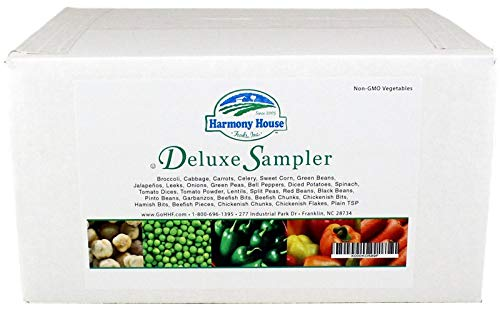 Harmony House Foods Deluxe Sampler (32 Count, Zip Pouches) for Cooking, Camping, Emergency Supply, and More
