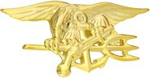 - US Navy SEAL Trident Pin (gold, 2 3/4