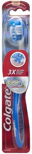 Price comparison product image Colgate 360 Total Advanced Full Head Toothbrush, Soft (Pack of 5)