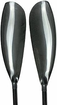 CISI SPORT Performance Lightweight 2 Piece Carbon Fiber Kayak Paddle with Wing Blade Oval Shaft 10cm Adjuster
