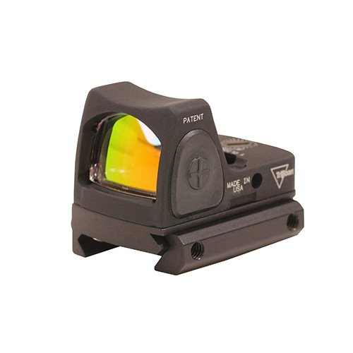 Trijicon RM07-C-700680 RMR Type 2 Adjustable LED Sight, 6.5 MOA Red Dot Reticle with RM33 Picatinny Rail Mount, Black (Trijicon Ruggedized Miniature Reflex Low Picatinny Rail Mount)