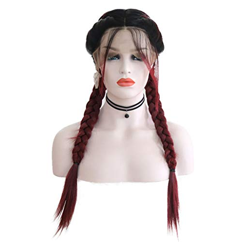 Wig for Women, Cosplay Wig,Party Wig,New Wig Ladies Fashion in The Long Straight Hair Braid Wig -