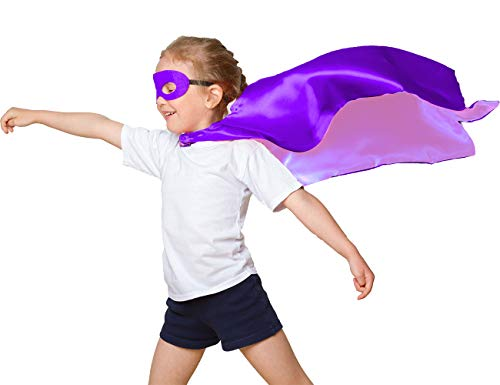 iROLEWIN 70cm Super Hero Stain Capes with Mask
