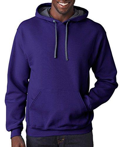 Purple da of SF76 the cappuccio con uomo Felpa Fruit Loom A115xz0