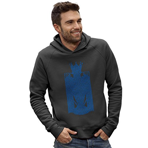 Twisted Envy Men's LCFC Champions Silhouette Dark Grey Hoodie X-Large
