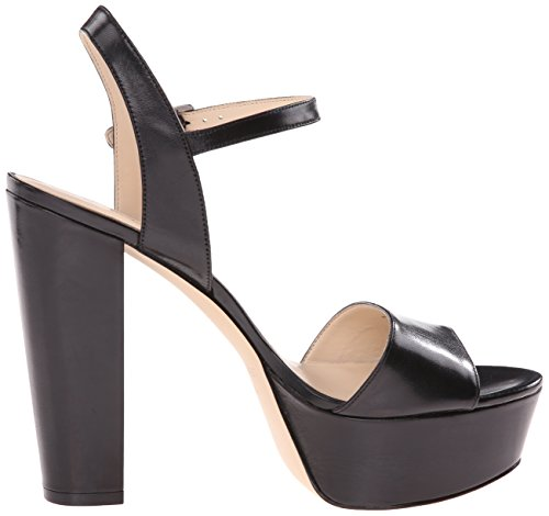 Black plataforma Nine de West cuero Clavel Bomba la Leather del Aq8UvwPw