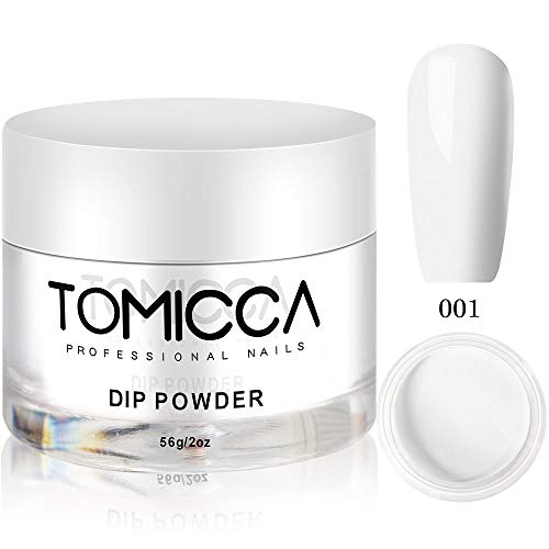 Tomicca Dipping Powder, French White Colors Dip Powder, 2 oz, 56g, for French Manicure Nail Art Set ()