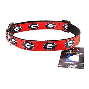All Star Dogs Georgia Bulldogs Ribbon Dog Collar - Medium
