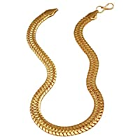 Charms Snake Collection Gold Plated Chain for Boys & Men (Golden)(CH-29ef)