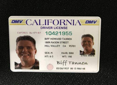 DW Back to The Future 2 - Biff Tannen License - Prop