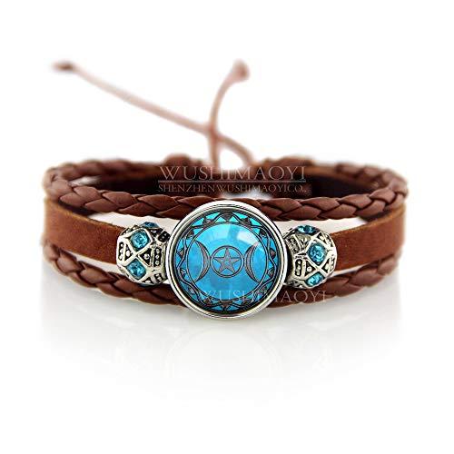 - WUSHIMAOYI Triple Moon Goddess Bracelet Moon Goddess Bracelets Jewelry Brown Bracelet Mother Daughter Jewelry Gifts