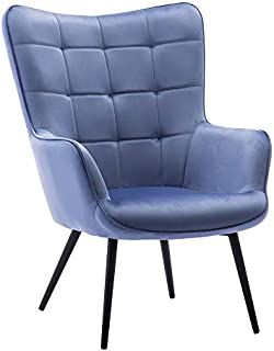 related image of Velvet Stylish Fabric Leisure Accent Chair Button