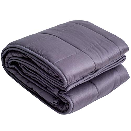 Cheap PONFE Weighted Blanket 15lbs. Weighted Comforter 100% Cotton Weighted Throw Blanket Blanket with Glass Cozy Blanket for Adults and Children 48 x 72 Black Friday & Cyber Monday 2019