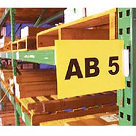 AIGNER WSK-1Y Warehouse Aisle Pallet Rack Sign Kit, 5-1/2