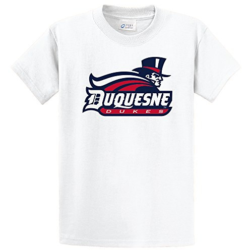 Campus Merchandise NCAA Duquesne Dukes Short Sleeve Tee, Small, White
