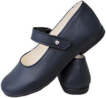 ennellemoo/® M/ädchen-Kinder-Festliche geschlossene Ballerinas-Spangenschuhe-Echt Leder-Schuhe-Klettverschluss.