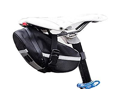 Edtoy Black Outdoor Cycling Bicycle Bike Saddle Bag Seat Packs Bag Tail Pouch