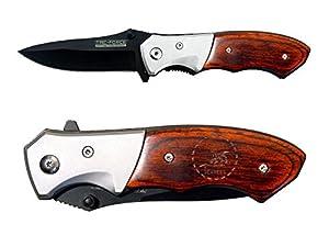TAC-Force TF-468 Folding Pocket Knife EDC Pakkawood Gentleman's Speedster Model with Bolster Custom Laser Engraved - Choose Your Design by NDZ Performance