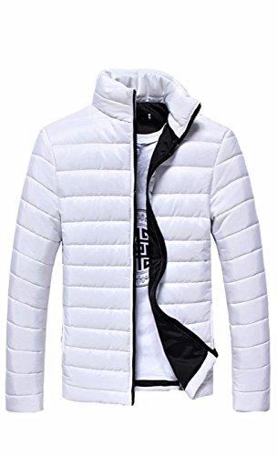 Caldo Mens Cappotto Bianco Basamento Collare Piumino Piuma Del Suprocer Inverno Antivento 6rrFPInq