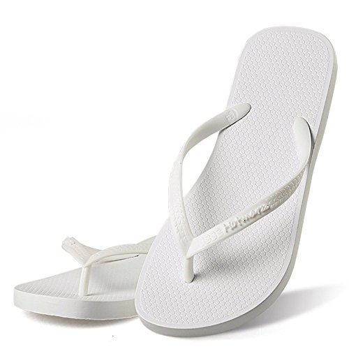 Hotmarzz Women's Slim Flip Flop Summer Flat Slippers Beach Thong Sandals Size 7 B(M) US / 38 EU / 39 CN, White