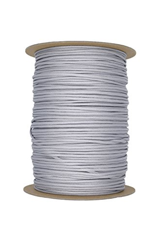 Paracord Rope 550 Type III Paracord - Parachute Cord - 550lb Tensile Strength - 100% Nylon - Made In The USA (Silver Grey, 100 Feet) by Paracord Rope (Image #2)