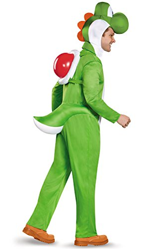 Disguise Men's Yoshi Deluxe Adult Costume, Green, X-Large ()