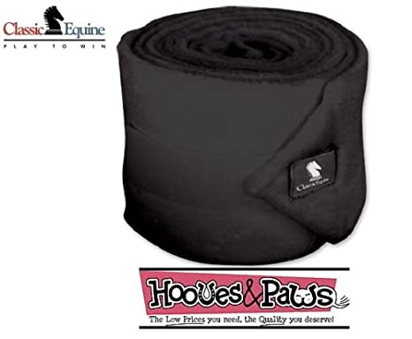 baadb7d251 Amazon.com  CLASSIC Equine Polo Wraps Set of 4 Solids (Black ...