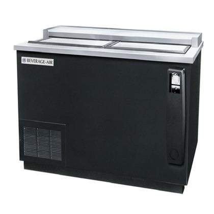 Beverage-Air DW49-B-24 Remote Horizontal Bottle Cooler Deep Well in Black with 2 Solid Self-closing Doors 3